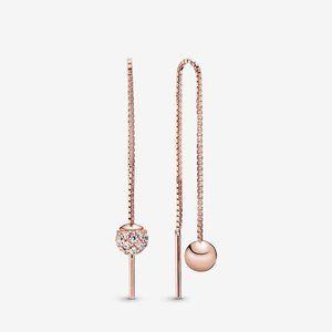 PANDORA Polished & Pav¨¦ Bead Dangle Earrings